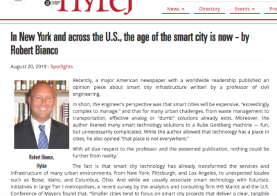 Hylan Featured in NYREJ: In New York and across the U.S., the age of the smart city is now