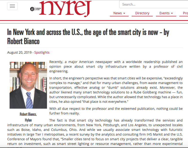 Hylan NYREJ smart cities article